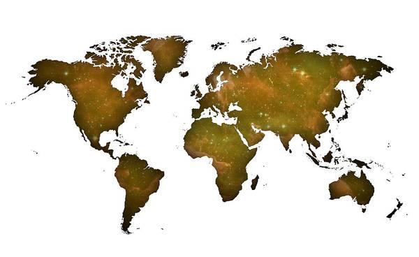 Digital Art - Land Worldmap by Alberto RuiZ