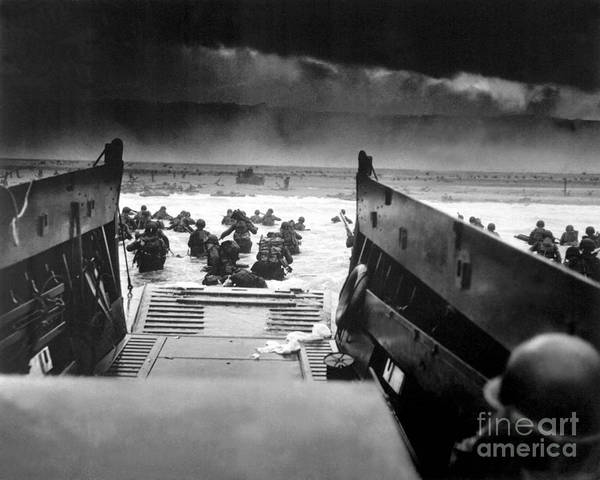 Painting - Landing Craft Used In The Invasion Of Normandy In World War II. by Celestial Images
