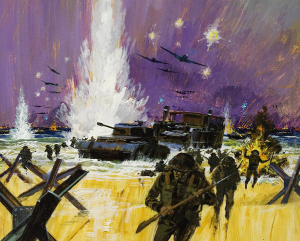Normandy Painting - Landing by Graham Cotton