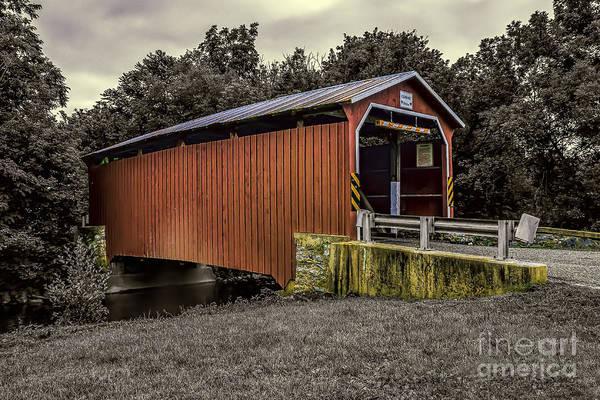Photograph - Landis Mill -duotone by Nick Zelinsky