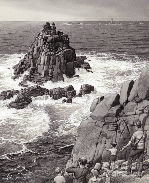 Sea Land Painting - Land's End by Pat Nicolle