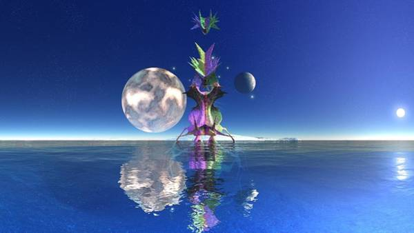 Digital Art - Landscape 3 by Robert Thalmeier