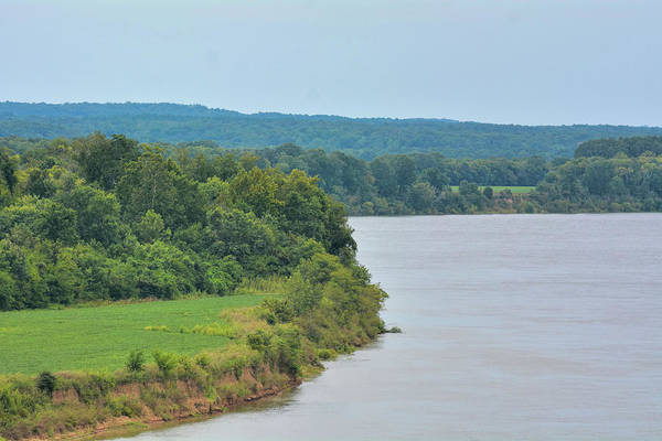Photograph - Landscape Along The Tennessee River At Shiloh National Military Park, Tennessee by WildBird Photographs