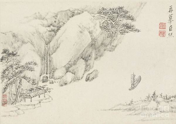 Painting - Landscape And Bamboo by Celestial Images