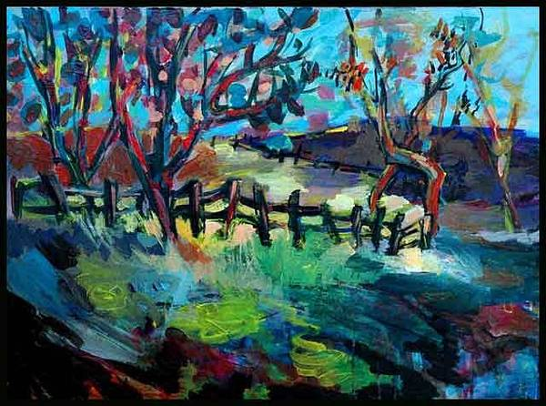 Allman Painting - Landscape by Andreea Allman