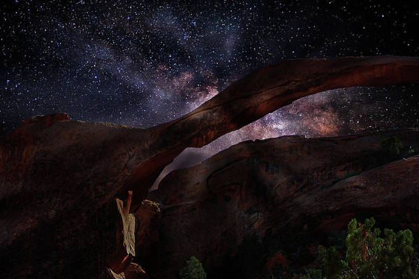 Photograph - Landscape Arch With Milky Way by Frank Vargo