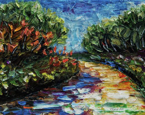 Painting - Landscape by OLena Art - Lena Owens