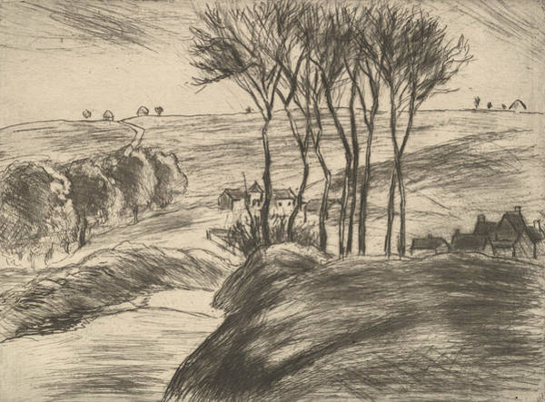 Relief - Landscape At Osny by Camille Pissarro