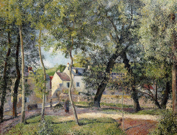 Wall Art - Painting - Landscape At Osny Near The Drinking Trough by Camille Pissarro