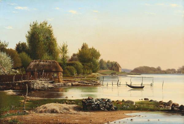 Painting - Landscape At Svendborg Sund by Anton Thorenfeld