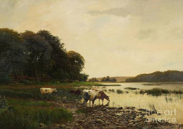 Painting - Landscape By The Lake by Celestial Images