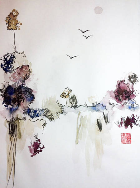 Chinese Brush Painting - Landscape Dreams by Casey Shannon