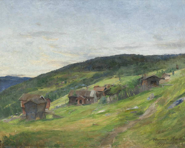 Painting - Landscape, Eggedal by Harriet Backer