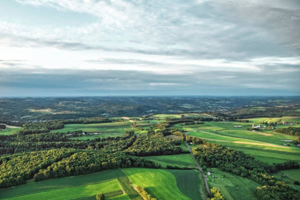 Photograph - Landscape From An Ultralight Over New Bethlehem, Pennsylvania by Kay Brewer