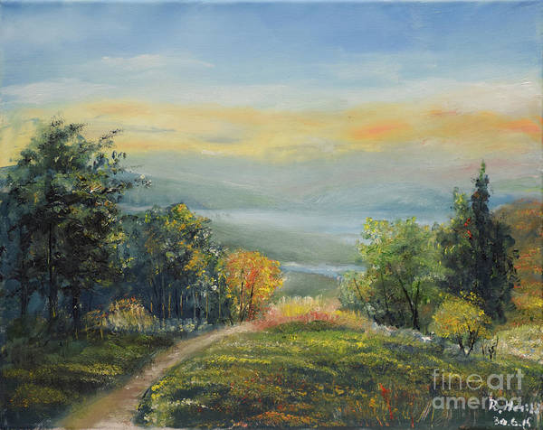 Painting - Landscape From Croatia by Raija Merila