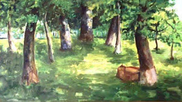 Elbasan Painting - landscape from Elbasan by Zana Rruplli