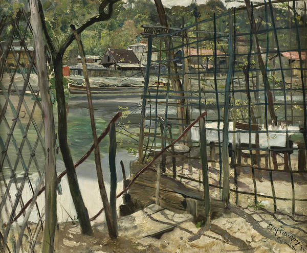 Painting - Landscape From Meudon, France by Eilif Peterssen