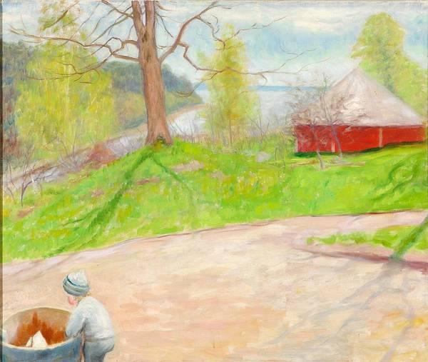 Painting - Landscape From Niemenlautta by Hugo Simberg