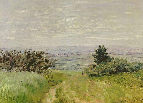 Paysage Wall Art - Painting - Landscape, Full View Of Argenteuil  Hills Of Sannois by Claude Monet