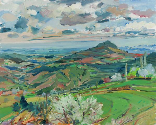 Elbasan Painting - Landscape Gjinar, Elbasan, Albania by Buron Kaceli
