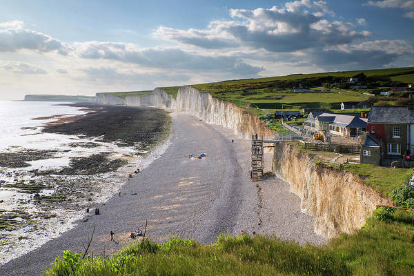 Wall Art - Photograph - Landscape Image Of Birling Gap From Seven Sisters  by Matthew Gibson