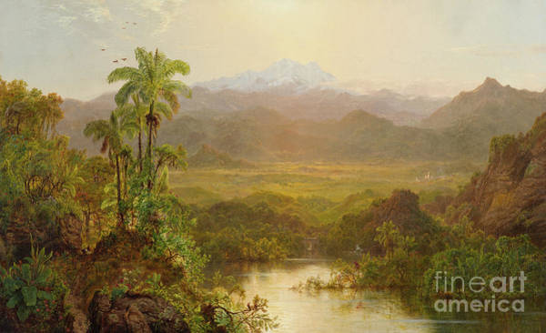Wall Art - Painting - Landscape In Ecuador, 1859 by Louis Remy Mignot