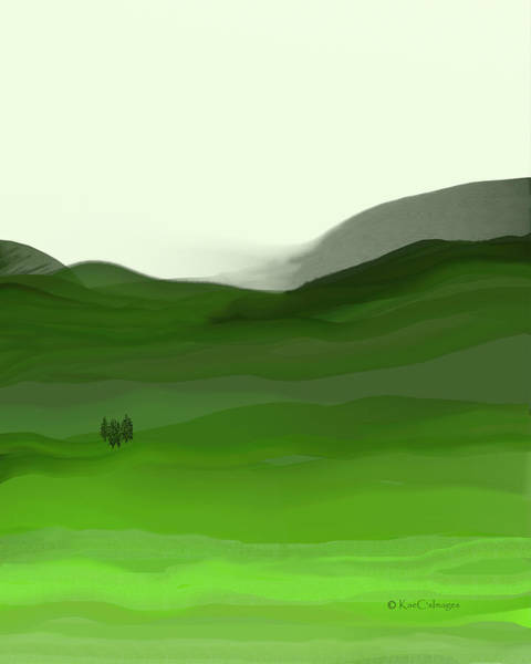 Digital Art - Landscape In Green by Kae Cheatham