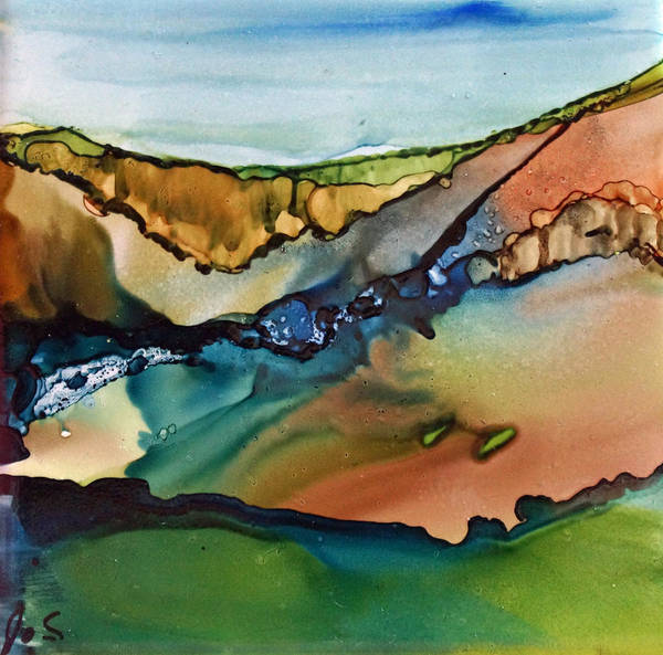 Painting - Landscape In Ink by Joanne Smoley