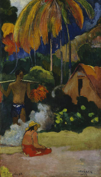 Gauguin Painting - Landscape In Tahiti  by Paul Gauguin
