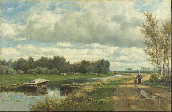 Wall Art - Painting - Landscape In The Environs Of The Hague C.   by Willem Roelofs