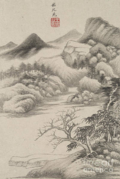 Wall Art - Painting - Landscape In The Style Of Various Old Masters In The Style Of Dong Yuan, 1669  by Wang Jian