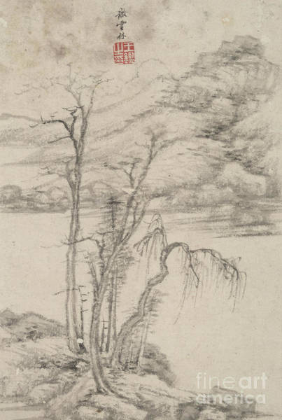 Wall Art - Painting - Landscape In The Style Of Various Old Masters In The Style Of Ni Zan by Wang Jian