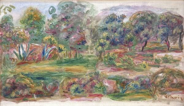 Wall Art - Painting - Landscape Near Cagnes by Auguste Renoir