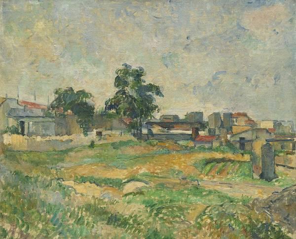 Wall Art - Painting - Landscape Near Paris by Paul Cezanne