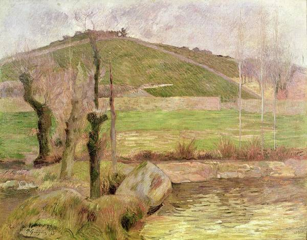 Stump Painting - Landscape Near Pont Aven by Paul Gauguin