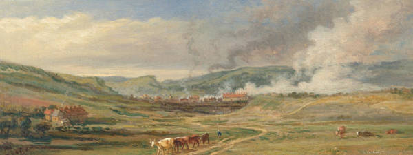 Ward Painting - Landscape Near Swansea, South Wales by James Ward