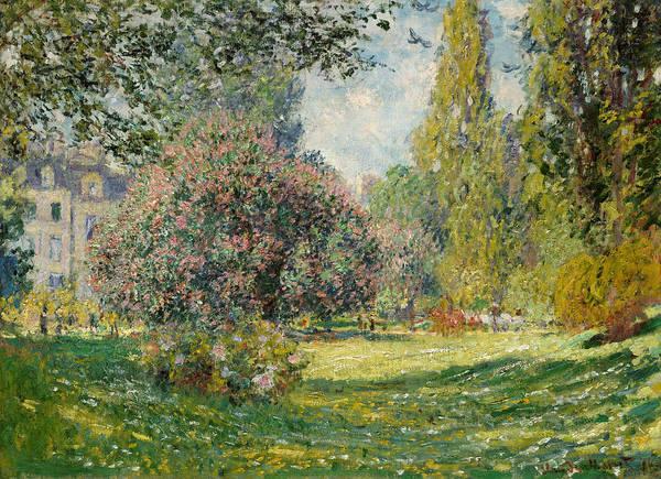 Painting - Landscape- Parc Monceau  by Claude Monet