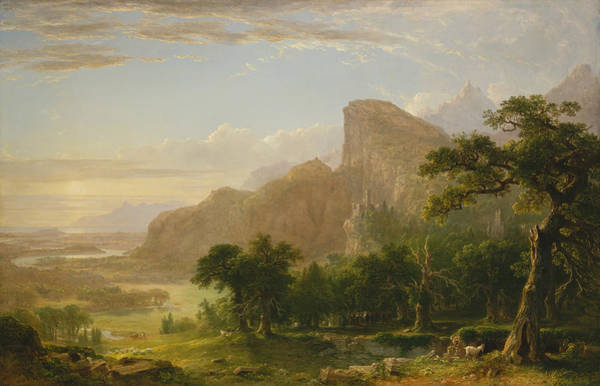 Plowing Painting - Landscape Scene From Thanatopsis by Asher Brown Durand