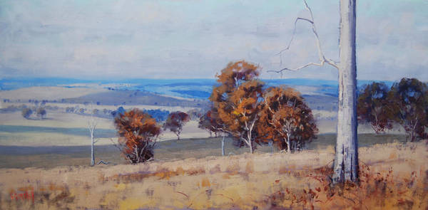 Wall Art - Painting - Landscape Shadows by Graham Gercken
