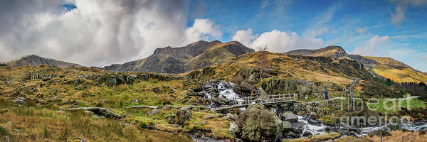 Trial Wall Art - Photograph - Landscape Snowdonia by Adrian Evans