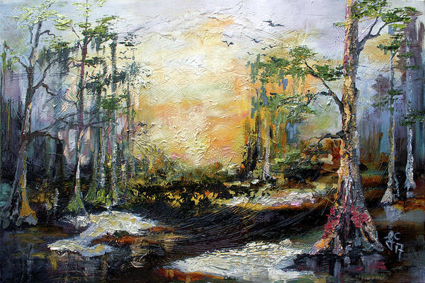 Painting - Landscape Wetland Suwanee River Black Water by Ginette Callaway