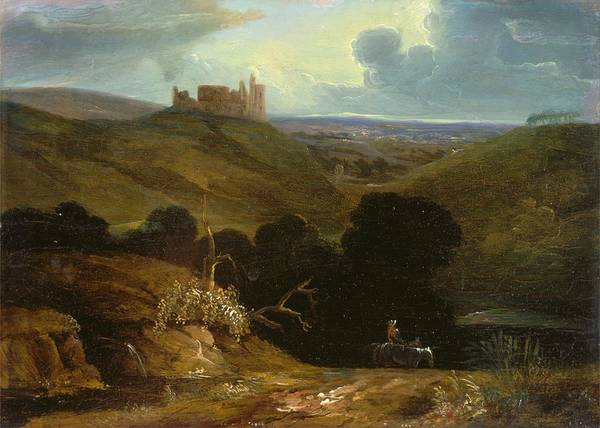 Painting - Landscape With A Castle  by John Martin