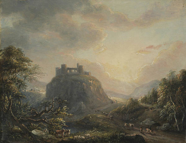 Painting - Landscape With A Castle by Paul Sandby