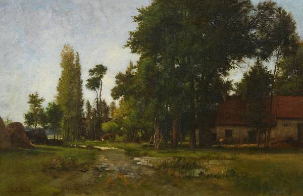 Farmstead Painting - Landscape With A Farmstead by MotionAge Designs