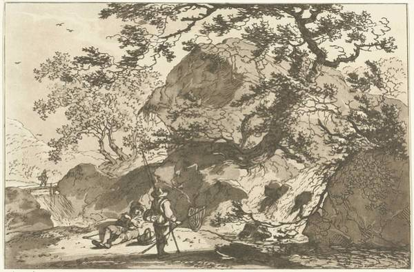 Meijer Painting - Landscape With A Fisherman And A Resting Man, Hendrik Meijer, 1789 - 1793 by Hendrik Meijer