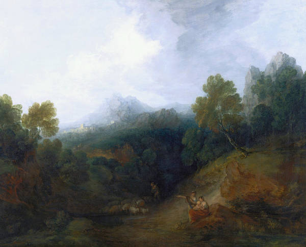 Painting - Landscape With A Flock Of Sheep  by Thomas Gainsborough