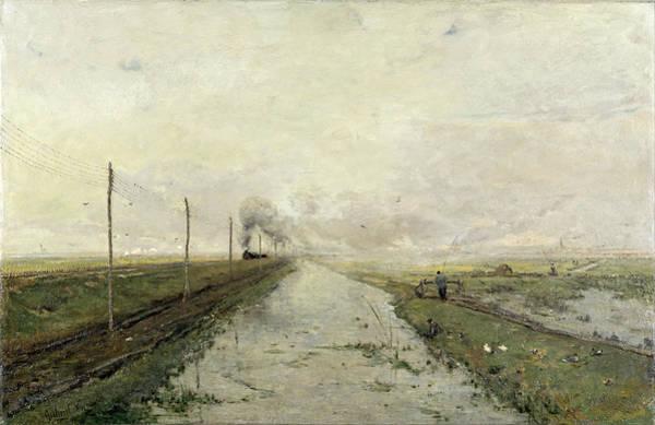 Gabriel Painting - Landscape With A Train by Paul Gabriel