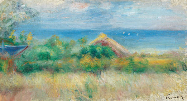 Painting - Landscape With Bottom Of Sea by Auguste Renoir