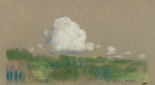 Drawing - Landscape With Clouds by Arthur Bowen Davies