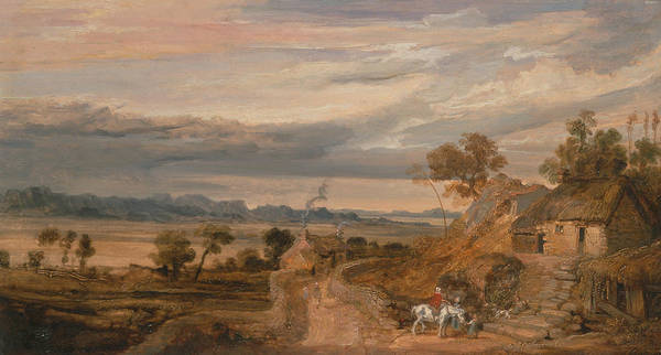 Ward Painting - Landscape With Cottages by James Ward